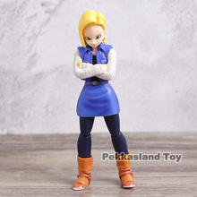 Dragon Ball Z SHF S.H.Figuarts Android NO. 18 Lazuli PVC Action Figure Collection Model Toy 12CM