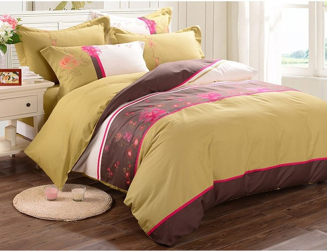 Elegant Bedding Set Cotton Bedclothes Comforter Blanket On The Bed Coverlet  Bedsheets Cover Bed King/