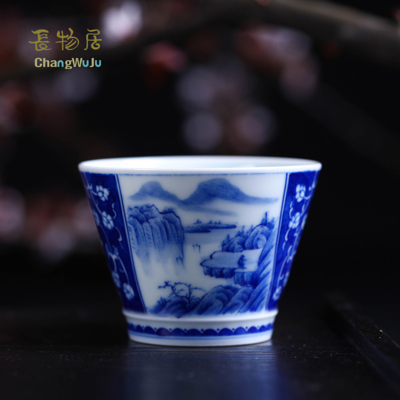 Changwuju in Jingdezhen Cups &Saucers Eco-Friendly Kung-Fu tea cup tea infuser cup the hand painted blue and white for host use