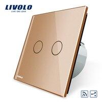 Livolo Touch Remote Switch 2 Gangs 2 Way AC 220 250V LED Indicator VL C702SR 15