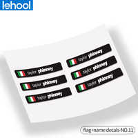 bicycle rider ID Custom unique name national flag stickers for road MTB bike frame flag personal name bicycle decals STYLE.11