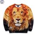 Mr.1991 marca 12-18 años niños grandes sudadera delgada chicos jóvenes moda lion king 3D impreso sudaderas con capucha chicas basculador sportwear W25