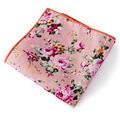 New Floral Cotton Pocket Square Fashion Men's Suits Handkerchief Casual Style Square Handkerchiefs for Wedding Party 23*23 cm
