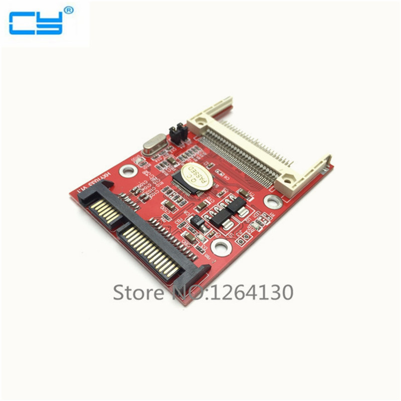 CF Compact Flash Type I II Merory Card to 2.5 SATA 7+15 22Pin converter Adapter Free Shipping складной нож flash ii