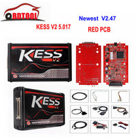 KESS V2 V5.017 EU Red V2.47/V2.23 ECM Titanium KTAG V7.020 4 LED Online Master Version ECU OBD2 car/truck Programmer too