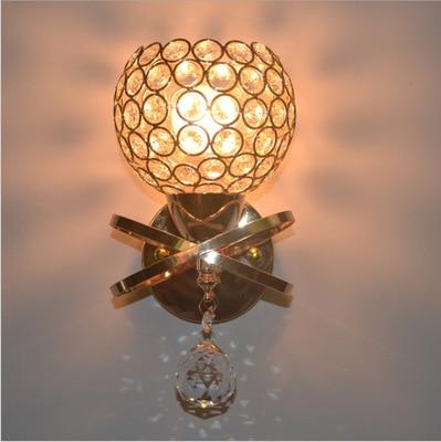 2018 новый современный домашний настенный светильник бра декоративный алюминиевая проволока абажур Ночник с подставкой Кристалл переключат