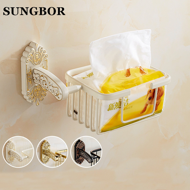 Bathroom Accessories Black Oil Rubbed Antique Brass Wall Mounted Toilet Paper Roll Holder Bathroom Shower Storage Basket SL-5107 pe fuel tank