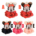 2016 New children Girl's dress Suit Minnie Mouse kids Clothing sets princess girls clothes sleeveless dress dress