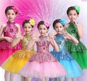 Image 1 - Ballet Tutu Dress Girls Gymnastics Leotard Dancewear Ballet Clothes Children Ballerina Costume Discount Ballet Tutus