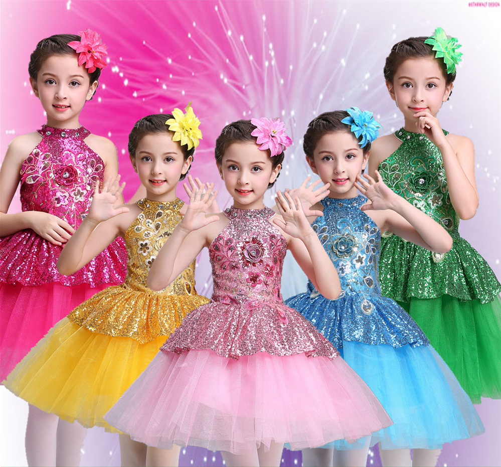 Ballet Tutu Dress Girls Gymnastics Leotard Dancewear Ballet Clothes Children Ballerina Costume Discount Ballet Tutus