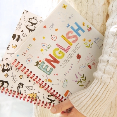 Carton Student English Coil Notebook Multi-function Soft Copybook Memos Notebook Free Shipping