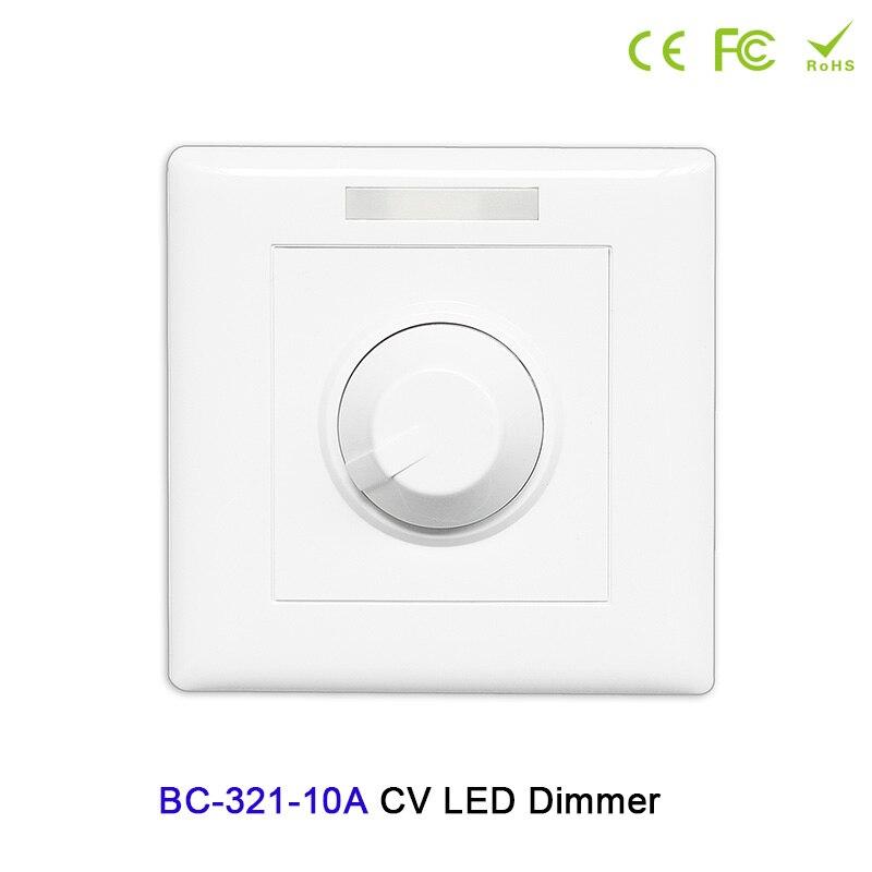 Modestil Bc-321-10a Konstante Spannung Pwm Knopf Stil Dimmer Dc12v-24v 10a Manuelle Schalter Controller Für Led Streifen Licht Beleuchtung Zubehör Dimmer