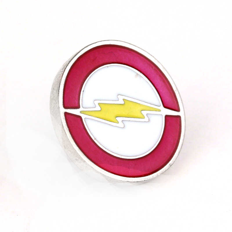 Dongsheng Perhiasan Film DC Comics Superhero Flash Bros Merah Kuning Enamel Kerah Pin Pria Lencana Kemeja Pins-40