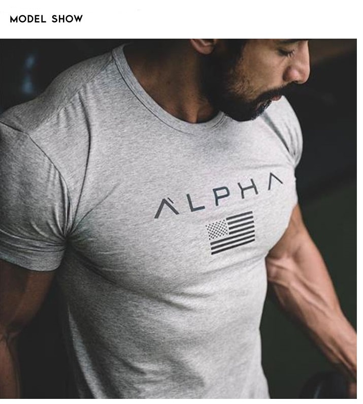 0033a008c0 Men s Fashion t shirts Man Summer New Fitness Bodybuilding Clothes Muscle  Male Shirts Cotton Slim Fit Tees Gyms Cool Shortsleeve-in T-Shirts from  Men s ...