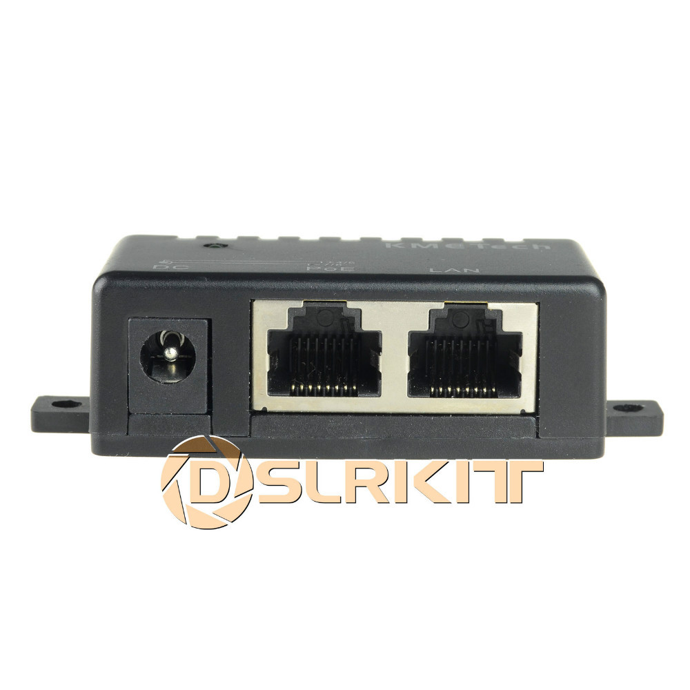 10pcs/Lot Passive PoE Injector Splitter Module Wall Mount (4,5+/7,8-) w/ 5.5*2.1mm DC