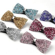 9 Цвет Мода мужские полноценно камень Стразы бабочкой Gravatas masculinas свадебное платье бабочка Галстуки corbatas