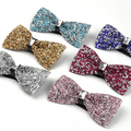 9 Color Fashion 2015 Mens High-grade Gem Rhinestones BowTie Gravatas Masculinas Wedding Dress Butterfly Ties Corbatas