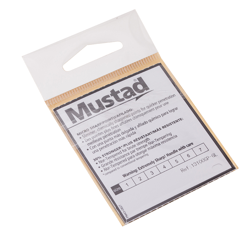 10 pacotes lote 13100 Mustad Ganchos de