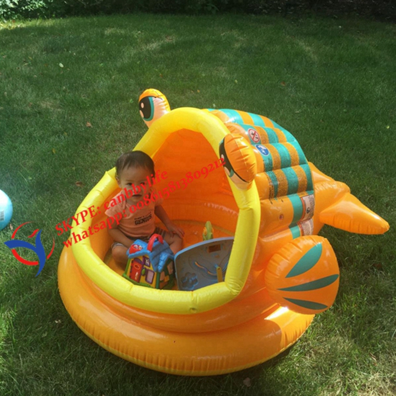 Buy Intex Lazy Fish Shade Baby Pool Inflatable Kiddie Swimming Pool With Canopy