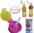 Cosas de bebé conveniente cubierta de paja potable embotellada de alta calidad práctico grifo niños paja bebida paja cubierta para adultos niños