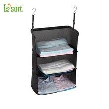 Travel Luggage Organize Storage Suitcase Hanging 3 Shelves to go, Portable Hanging Organizer Clothing Towel Rack Travel Storage