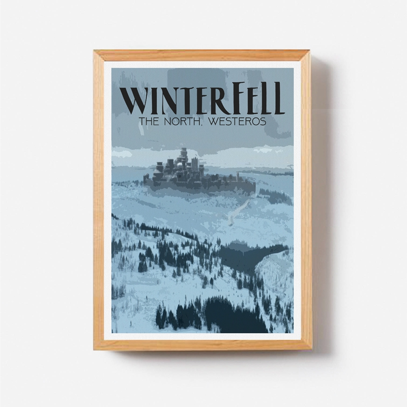 Game of Thrones Travel Poster Home Wall Art Decor