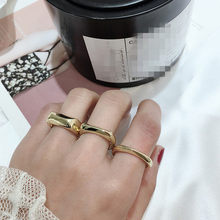 Baroque Round Vintage Ring Gold Color Minimalist Geometric Personality Exaggerated Finger Ring Trendy New(China)