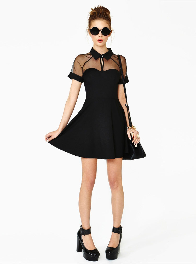 40c688d1f510 MolaBell Summer Style Women Sexy Mesh Short Sleeve Casual Solid Black  Dresses Party Night Club Wear Dress Plus Size