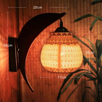 Modern LED Wall Lights For Living Room Porcelain Lampshade Wood Holder Night Light Indoor Led Chinese Wall Lamp For Kids Room yimia creative 4 colors remote control led night lights hourglass night light wall lamp chandelier lights children baby s gifts