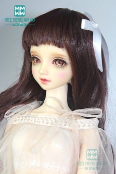 BJD doll clothes accessories for 1/3 1/4 1/6 BJD/SD dolls Wigs Dark brown long curly hair 078 image