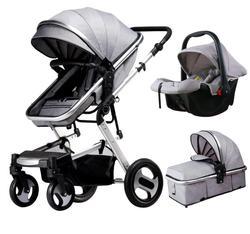 Wózek dziecięcy 3 w 1 high landscape może siedzieć cztery koła amortyzator składany dwukierunkowy wózek dziecięcy