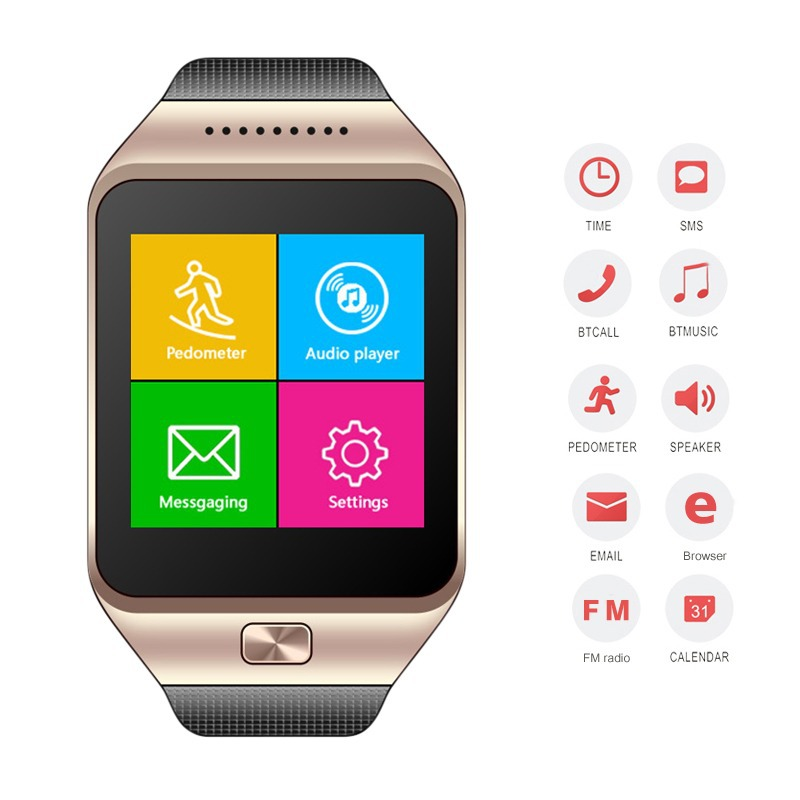 ФОТО High Quality dual luxury Anti Lost Bluetooth Smart Wrist Watch for men women SM Sync LED touch screen watch For iPhone Android