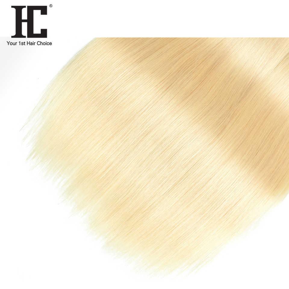 HC Hair Company, extensiones de cabello humano liso malayo, 10 a 26 pulgadas, una pieza, cabello no Remy tejido, mechones rubio 613