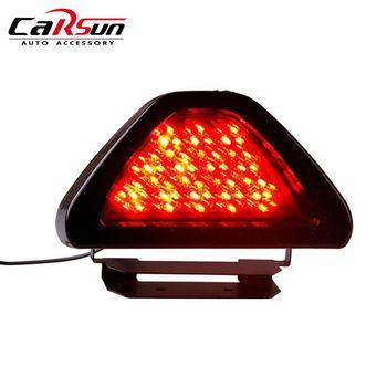 Universal para coche luces de freno LED F1 estilo 12 LED rojo trasera tercer freno de seguridad de la luz de la lámpara