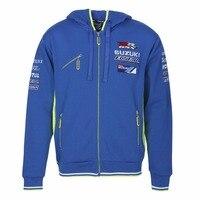 2018 new motorcycle GP hoodie for Suzuki adult men's zipper blue sweatshirt