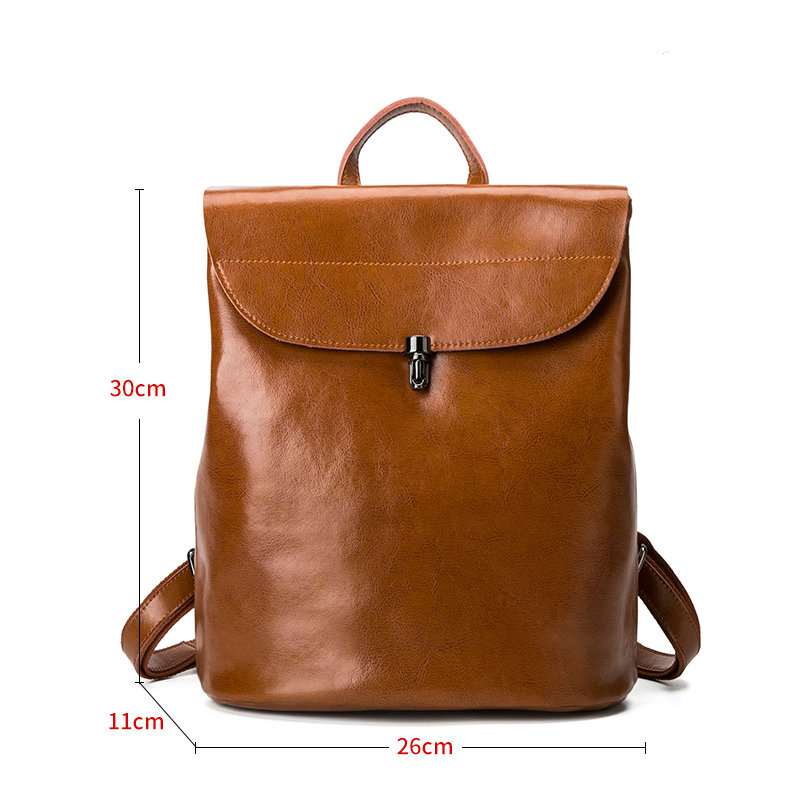 Japan and Korean Style Genuine Leather Women Backpack Vintage School Backpack For Girls Brand Designer Bags Best Gift