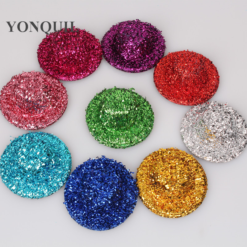 Multiple Color 5cm Sequin Mini Top Hats Girl Party Headwear Diy Hair