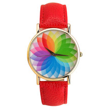 Summer New Product Woman Seven Color Lotus Leather Watch Quartz Watch women watch Relojes de mujer  dignity 8.10