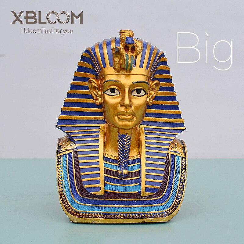 Egyptian Pharaoh Tutankhamun Statue Egyptian Pyramid Sticker Toy Sphinx Religious Christ Character Egyptian Home Wedding Decor