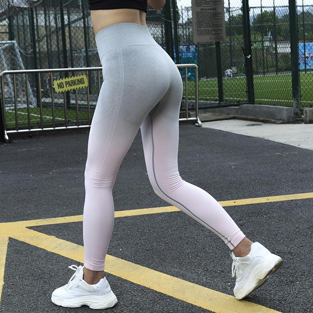 Ombre Seamless Leggings Woman Sports Wear Gym Tights Leggins Sport Fitness Sportswear High Waist Sports Leggings Yoga Pants