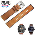 AUTO Retro Style Vintage Punk Style Genuine Calf Leather Watch Strap fit for Diesel Panerai Watch Man Strap 24mm  + Free Tools