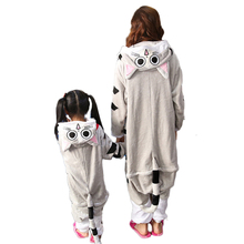 Winter Flannel Mother & Child Hooded Pajamas
