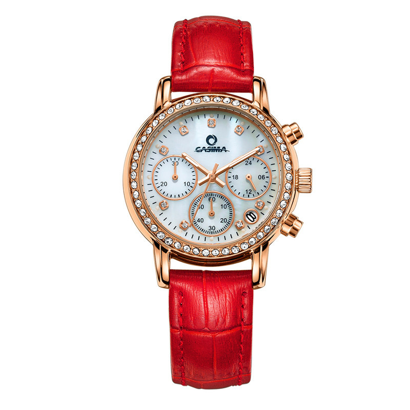 Luxury brand watches women fashion leisure luminous charm for women quartz wrist watch waterproof watch 2603 fashion luxury brand watches women elegent leisure gold crystal women s quartz wrist watch red leather waterproof casima 2603