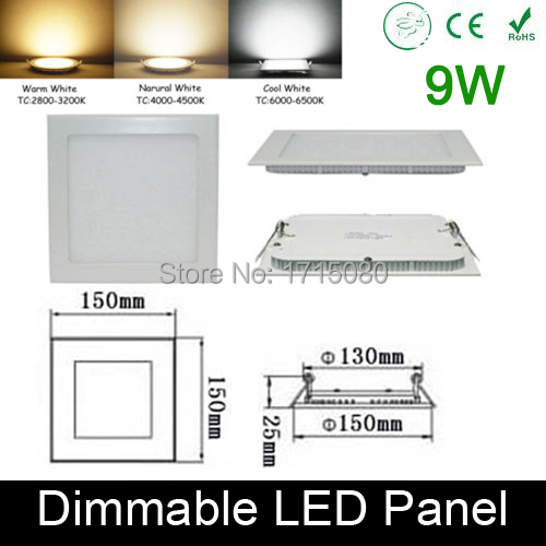 Ultra thin dimmable 9w led panel light flat square led recessed ultra thin dimmable 9w led panel light flat square led recessed ceiling down light 4000k for aloadofball Gallery