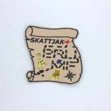 Custom Embroidered Patch FLAG Personalised TAG NAME TEXT National Backpack Badge 01