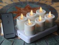 6 Unids Flameleess Recargable LLEVÓ la Luz Del Té Velas Con Mando A Distancia y Temporizador Sin Perfume de Marfil Para El Hogar Decoración de Navidad