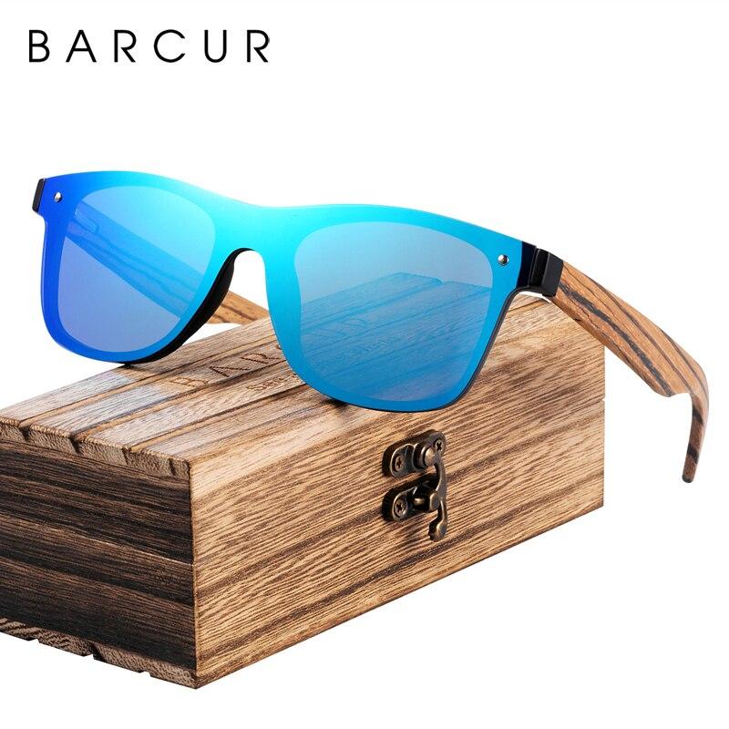 BARCUR Новая мода оттенки солнечные очки из дерева зебрано мужские UV400 защита солнцезащитные очки деревянные женские очки
