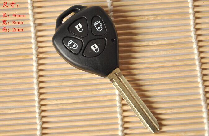 DAKATU Remote Blank Key Shell พอดีสำหรับ Toyota Corolla Alphard Camry TOY43 4 ปุ่ม Fob