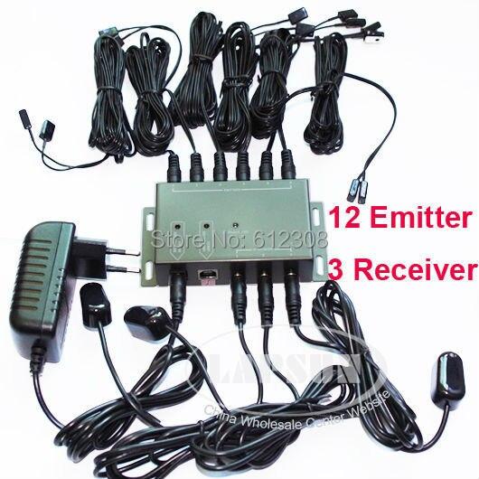 BD1203 12 Emitter 3 Empfänger 1 adapter IR Infrarot Remote TV AV Video Home Anwendung Extender Versteckte IR Repeater System kit-in Werkzeugteile aus Werkzeug bei AliExpress - 11.11_Doppel-11Tag der Singles 1