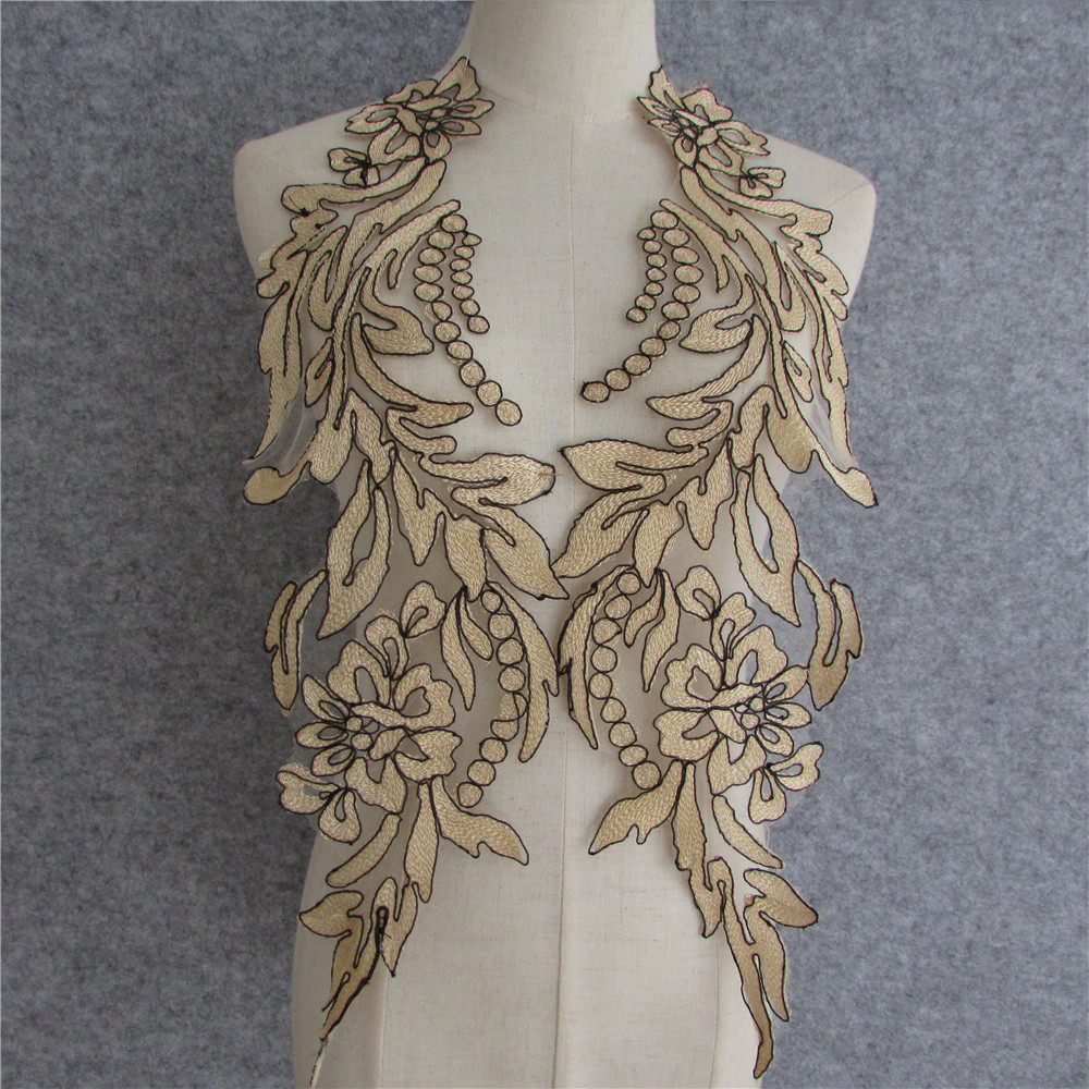 High quality lace openwork dress wild evening embroidery DlY decorative sewing collar accessories CA137